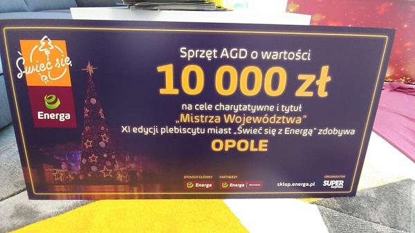 """11. edycja """"Świeć się z Energą"""" - symboliczny czek dla Opola"""